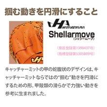 商品の写真3: ハタケヤマ 硬式用キャッチャーミット(KシリーズM1型)